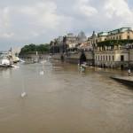 ドレスデン 洪水のエルベ川
