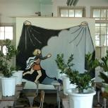 太田麻里「アポロと樹に化したダフネ」2008年